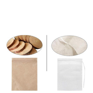 Tea Filter Bags Natural Unbleached Paper Tea Bag Disposable Tea Infuser Empty Bag with Drawstring for Herbs Coffee
