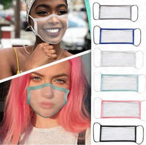 Deaf friendly Face Mask Transparent Fashion Facemasks With Visible Lip Expression Clear Window Shield Lip Reading Masks For Deaf Mute D8511