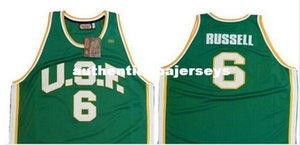 University of San Francisco # 6 Bill Russell Jersey back, any Custom name, number and sizes, rev 30 Stitched high quality embroidery Jersey