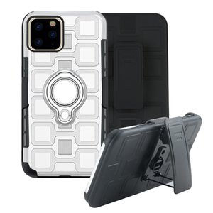 Shockproof Armor Kickstand Phone Case for iPhone 11 Pro Max XR XS Max X 7 8 Plus Finger Magnetic Ring Holder Anti-Fall Cover Defend Series