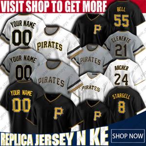 Custom Baseball Jerseys 55 Josh Bell-Jersey 8 Willie Stargell Jerseys 21 Roberto Clemente Jersey Joe Musgrove Gregory Polanco Adam Frazier