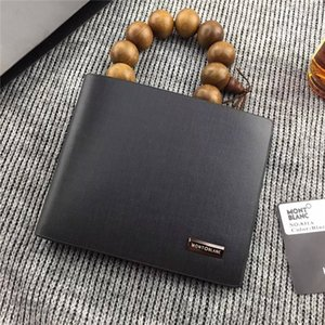 MB Mens Wallet 100% Genuine Leather Top Cowhide Passport Holder Classic Business Card Holder Photo Holder Short Purse For man Best Gift