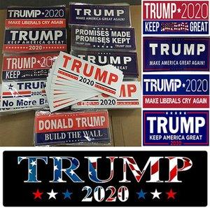 Donald Trump 2020 Araba Etiketler Tampon etiketi Tut Make Amerika Büyük Çıkartması Car için Karoseri Araç Paster Banner Parti IIA264 Malzemeleri