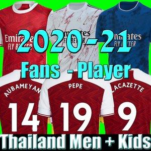 MEN çocuklar setleri üniformalar fanlar player sürümü 2020 2021 futbol takımları futbol jersey 19 20 21 TIERNEY HENRY futbol forması futbol tepelerini Arsen