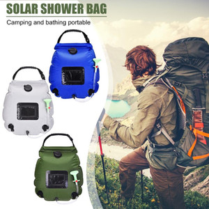20L Solar Water Storage Bag Camping Shower Container Outdoor Camping Hiking Portable Heating Shower Bags