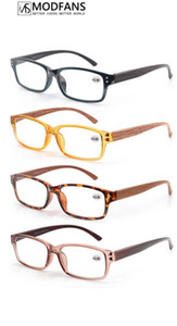 Men Reading Glasses Women Wood Look Frame Presbyopic Clear Glass Square Rectangular Eyeglasses 2020 Diopter 1 1.5 175 2 2.5 275
