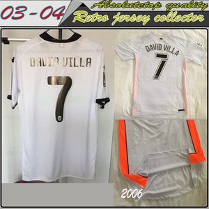 Top Qualität Retro Classic 2000 2001 2003 2003 2004 2006 2007 2009 2010 Fussball Jersey Vicente Angulo Mendieta David Villa Aimar Football