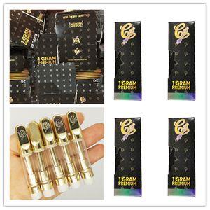 칼리 플러그 Vape 카트리지 포장 0.8 ㎖ / 1.0 ㎖ (510) 세라믹 코일 골드 금속 팁 두꺼운 오일 분무기 빈 E-담배 Vapes