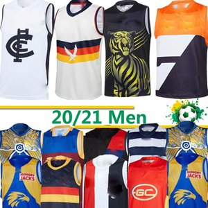 2020 gatos AFL jérsei Geelong Bombers Gold Coast Essendon Adelaide Crows Collingwood águias costa oeste GUERNSEY Rugby Jerseys League singlet