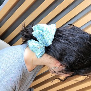 Bohemia Style Women Chiffon Hairpin Fashion Printed Lady Elegant Hair Clips 3 Colors Lovely Charm Girls Barrettes Jewelry