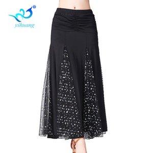 New 2020 Ballroom Dance Custome Comepetition Skirt Modern Tango Standard Dancewear Skirts for Ladies Latin Salsa Rumba #2813