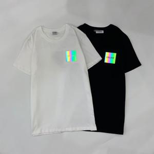 2020 yeni suç yaz Paris tişört fanı gömlek erkek giyim kadın yaz rahat pamuk mektup moda kısa sıcak yansıtıcı moda sleeve