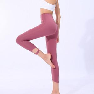 Sports Capri Pants Feminino Quick Dry fitness Calças de cintura alta Peach Hip Calças Correndo Yoga constrói a roupa Body Fitness Train