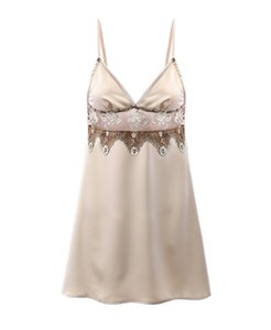 2020 New Product: Retro High End Embroidery, Silk Smooth Imitation Silk Suspender, Sexy Nightdress
