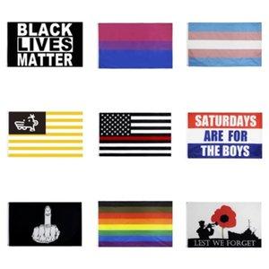 Bandera delgada línea azul de EE.UU. Decal Pegatinas para Coches Camiones - 2,5 * 4.5inch estadounidense Ventana EE.UU. bandera pegatina para el coche # 661