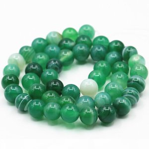 Round Natural Stone Veins Onyx Agates Loose Beads 6 8 10 12mm Pick Size for Jewelry Making Green Carnelian FindingS 15inch A348