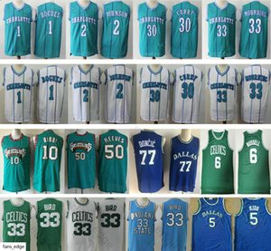 Larry 33 Bird Jason Kidd 10 Bibby 50 Reeves 1 Tyrone Bogues Larry Johnson Dell Curry Mens 33 Mourning 77 Doncic Bill 6 Russell Jerseys