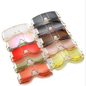 2020 new fashion women's sunglasses one-piece punk sunglasses 902 personality rivet women sunglasses free shipping high quality
