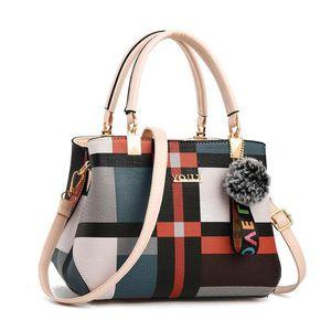 New Winter Luxury Handbag Women Stitching Wild Messenger Bags Designer Female Ladies Totes Crossbody Bags Brand Plaid Shoulder
