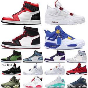 Mens 4s Kara kedi mahkeme mor Bred 1'ler için 6 6S Hare Basketbol Ayakkabı Bloodline 13s Flint Bahçesi Erkekler Eğitmenler Sneakers ABD 7-13