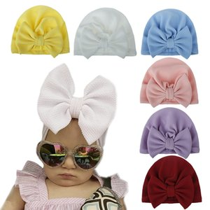 Big Bow 18-Color pullover cap cap New pullover baby hat 0-2 years old baby turban hat