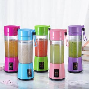 380 ml Jus de jus personnelle rechargeable Blender Fruit Shakes Shakes Electric 6 lames Portable Mini Mini Juicer Cuce avec câble de chargeur USB FF27
