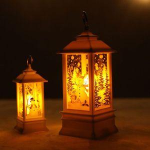 Aceite luz de la Navidad LED de la lámpara de simulación de Navidad noche de la vela de luz fuera de la Florida arte de Navidad Jardín Lanterns 2019