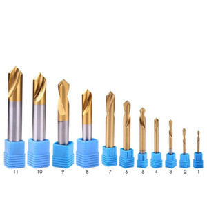 Titanium-plated HSS Cobalt Drill Bit Electric Drill Metal Hole Grooving Saw Carpenter Woodworking Fixed-point Tools