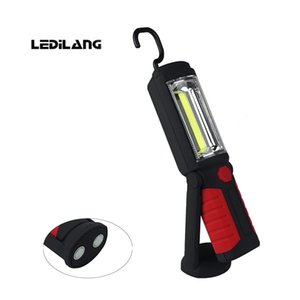 COB trabalho leve USB recarregável LED Flashligh Built-in bateria de lítio Trabalho Lâmpada Mão lanterna Emergência Waterproof Magnetic