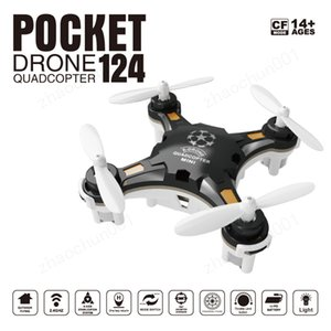 new Cheap FQ777-124 Pocket Drone 4CH 6Axis Gyro Quadcopter Drones With Switchable Controller Key To Return RTF UAV RC Helicopter Mini Drones