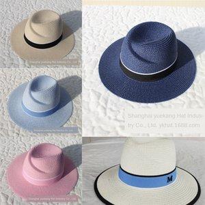 wom için ZmBkm 2019 yaz saman şemsiye erkek ve kadın siperliği miğfer Straw miğfer moda moda şapka yara ayarlanabilir bahar ve yaz şapka