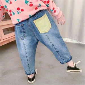 ur3sO Tong Kexing filles de style occidental coréen jeans femme lâche Jeans et pantalons navet radis 2020 pantalon de radis Automne enfants fashionab