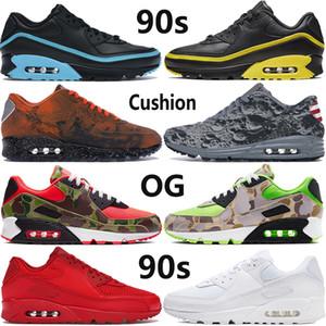 90s OG new mens running shoes reverse duck camo Hyper Grape triple black white Mars Landing reflective men women cushion sneakers