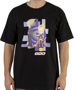 Men # 39s Código Lyoko Odd Camisa Negro