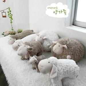 schöner weicher Plüsch-Fat Sheep Ball Spielzeug Sleeping Sheep Puppe-Kissen-Kissen Freund Mädchen-Geburtstags-Geschenk-Karikatur-Schaf-Lamm-Puppe Plüsch MX200716