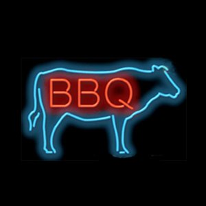 """BBQ Beef Cow Cook Out Roast Neon Sign Custom Handmade Real Glass Tube Store Restaurant Bar Party Decoration Display Neon Signs 17""""X14"""""""