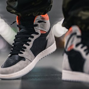 Jumpman 1 Retro High Shoes Neutral Crimson 555088 018 Grey Black Hyper Crims Big Size Gym Mens Schoenen Goodgoodsneakers Fashion_clubs Des Chaussures Trainers shoe