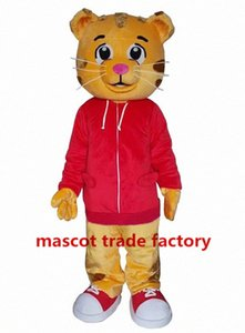 Atacado vender como Costumes Costume Mascot Hot Cakes Daniel Tiger Daniel pele do tigre da mascote HZML #