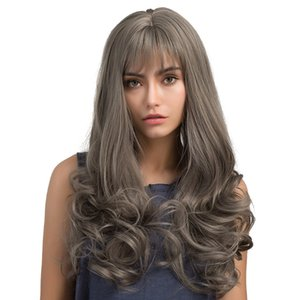 Synthetic Lace Front Wig Long Wavy Lace Wig Fake Hair Extension Cosplay Wigs For Women 24Inch