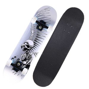 Çocuklar Yetişkin Maple Skate Board Moda Baskılı Deck Uzun Kurulu Dört Tekerlek Kaykay Çift Küçümseyici Kaykay İçin Spor
