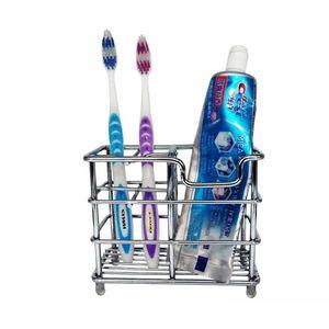 Simples Pasta de dentes Suporte multi-função de aço inoxidável Escova titulares Firm Durable armazenamento Rack Para Casa Bathroom Supplies