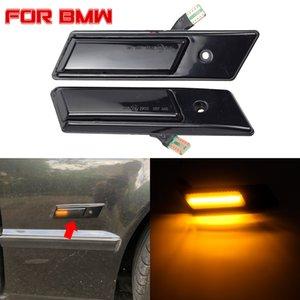 2 Piezas Dynamic LED señal de vuelta de luz Luz de delimitación lateral luces de señal del repetidor para BMW Serie 3 5 7 E32 E34 E36