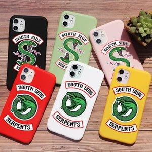 PUNQZY estadounidenses de televisión Riverdale serpientes desde el teléfono del Sur para el iPhone XR 11 Pro XS MAX X 7 8 Plus SE 2020 cubierta suave de TPU