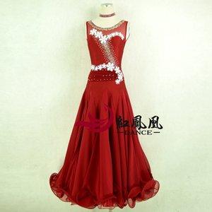 2020 Costumes Dance Competition NewWomen Ballroom Vestidos Lace Dança Floral vestido sem mangas Modern Waltz Ballroom Tango Padrão