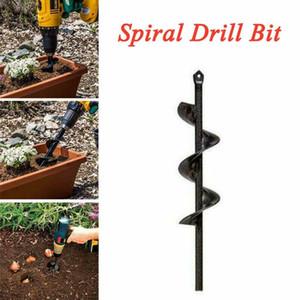 NUEVO SERVING STARTING SPIRAL Agujero de la espiral Bit para el jardín Yard Tierra Bombilla plantadora Mano eléctrica Twist Drill Jardín Vegetal Alojamiento Broca
