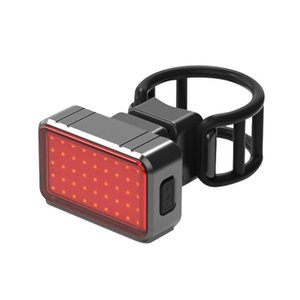 100LM ligero de la bicicleta impermeable recargable USB Intelligent Brake inducción de bicicletas Luz trasera Noche Seguridad Montar luz trasera LED