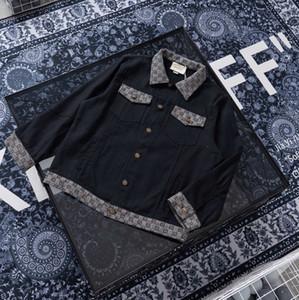 2020 mode automne hiver français impression lettre réfléchissant luxe Veste en jean concepteur mens Jacquard coupe-vent respirant fermeture à glissière