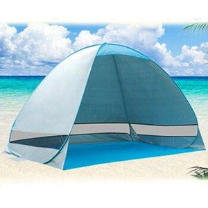 Portátil surge la tienda del pabellón de la playa Parasol refugio al aire libre tienda de campaña de pesca