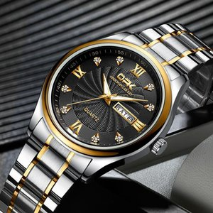 TOP Fashion stainless Steel Quartz Man and lady watch Japan Movement watch Wristwatches Life Waterproof Hot gifts for friends ref 8103