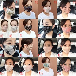 Masque respirant soie Femme Fasion Anti-UV double couche lavable crème solaire Dissimulation Masque visage été mince